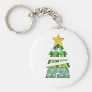 Chaveiro Keyring do hotel da árvore de Natal