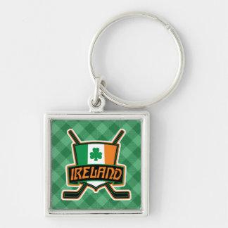 Chaveiro Keyring irlandês do logotipo da bandeira do hóquei