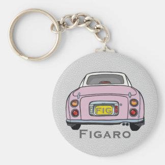 Chaveiro Keyring rosa pálido do costume de Nissan Figaro