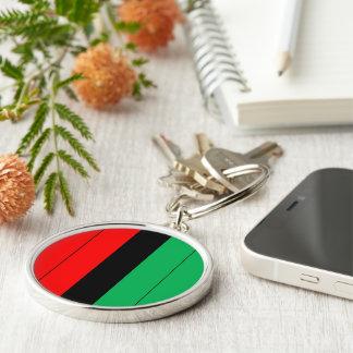 Chaveiro Kwanzaa colore o teste padrão verde preto vermelho