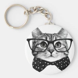 Chaveiro laço do gato - gato dos vidros - gato de vidro