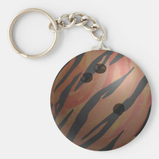 Chaveiro Laranja do tigre da bola de boliche