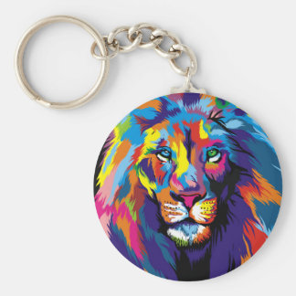 Chaveiro Leão colorido