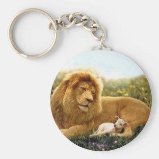Chaveiro Leão e cordeiro