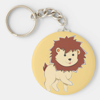 Chaveiro Leão feliz do bebê dos desenhos animados