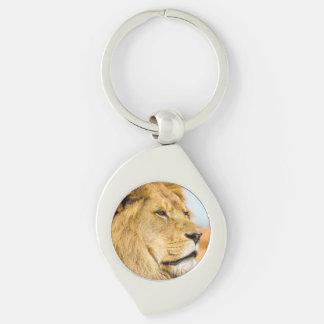 Chaveiro Leão grande que olha longe
