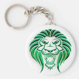 Chaveiro Leão tribal Cabeça-Verde