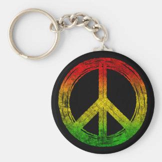 Chaveiro legal do símbolo de paz de Rasta da