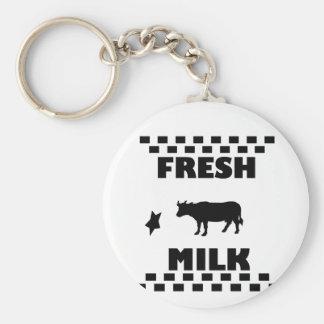 Chaveiro Leite de vaca fresco da leiteria