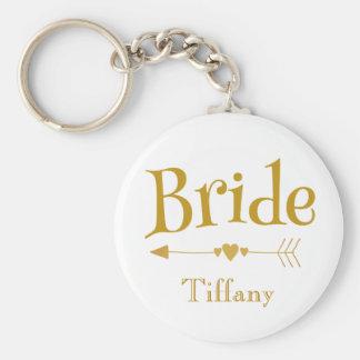 Chaveiro Lembrança bonita do casamento da noiva