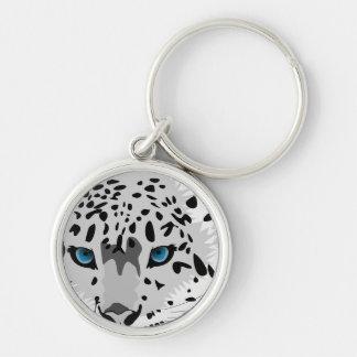 Chaveiro leopardo de neve abstrato