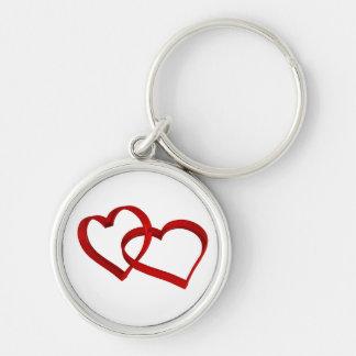 Chaveiro ligado dos corações