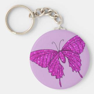Chaveiro Lilac feminino da borboleta do brilho da faísca do