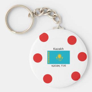 Chaveiro Língua do Cazaque e design da bandeira de