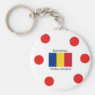 Chaveiro Língua e design romenos da bandeira de Romania