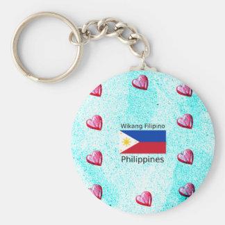 Chaveiro Língua filipina de Wikang e bandeira de Filipinas