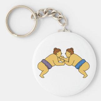 Chaveiro Linha dos lutadores do Sumo de Rikishi mono