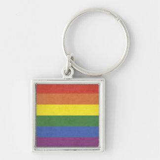 Chaveiro Listras do arco-íris
