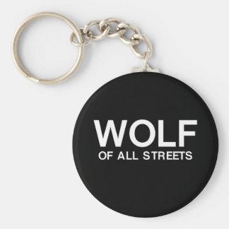 Chaveiro Lobo agradável de todo o impressão das ruas