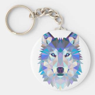 Chaveiro Lobo do polígono - lobo geométrico - lobo abstrato