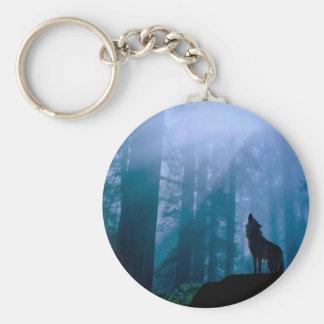 Chaveiro Lobo do urro - lobo selvagem - lobo da floresta