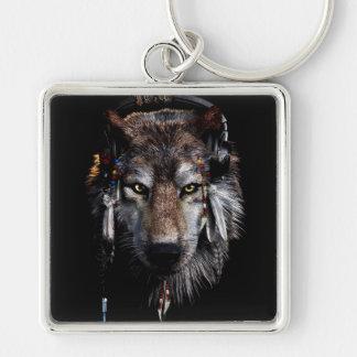 Chaveiro Lobo indiano - lobo cinzento