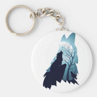 Chaveiro Lobo que urra com Forest2-01