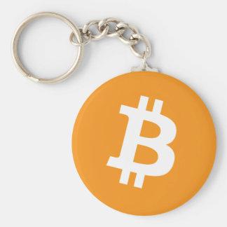 Chaveiro Logotipo cripto da moeda de Bitcoin