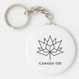 Chaveiro Logotipo do oficial de Canadá 150 - esboço preto