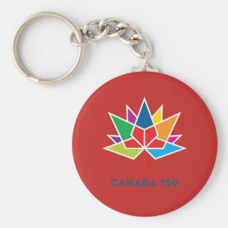 Chaveiro Logotipo do oficial de Canadá 150 - multicolorido