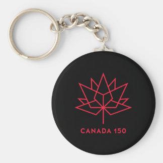 Chaveiro Logotipo do oficial de Canadá 150 - preto e