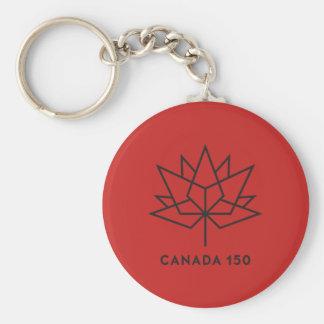 Chaveiro Logotipo do oficial de Canadá 150 - vermelho e