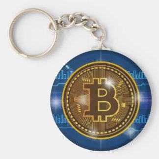 Chaveiro Logotipo legal de Bitcoin e design do gráfico