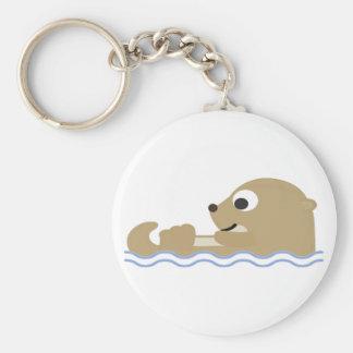 Chaveiro Lontra de flutuação bonito