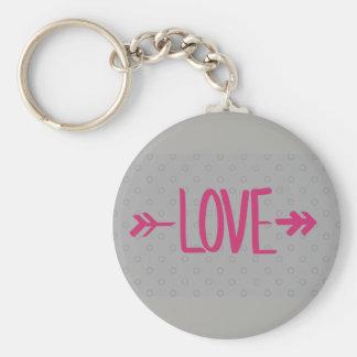 Chaveiro Love cinza