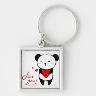 "Chaveiro ""Love You Panda"""