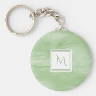 Chaveiro Luz simples - monograma moderno de mármore subtil