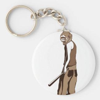 Chaveiro macaco humano com vara