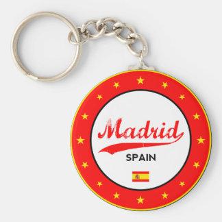 Chaveiro Madrid, Spain, circle, white