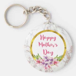 Chaveiro Magnólias cor-de-rosa e roxas do dia das mães da