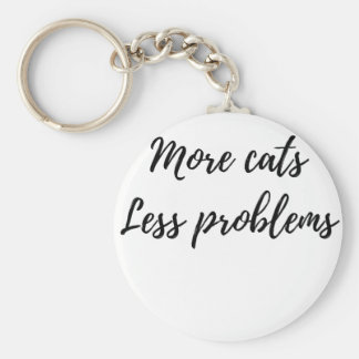 Chaveiro Mais gatos, menos problemas