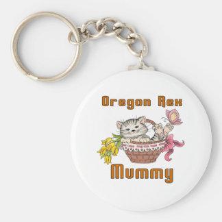 Chaveiro Mamã do gato de Oregon Rex
