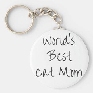Chaveiro Mamã do gato do mundo a melhor - preto