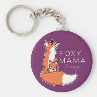 Chaveiro Mama Foxy do Fox com o bebê, personalizado