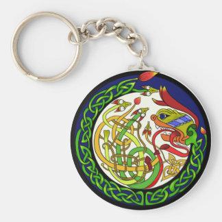 Chaveiro Mandala celta do dragão do nó