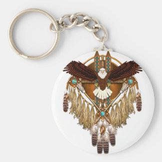 Chaveiro Mandala da águia americana - revisada