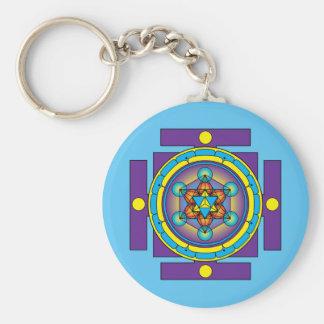 Chaveiro Mandala de Merkaba do cubo de Metatron
