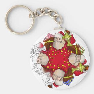 Chaveiro Mandala de Papai Noel