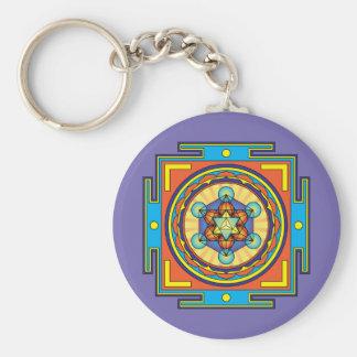 Chaveiro Mandala do cubo de Metatron