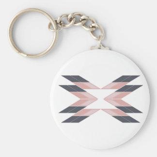 Chaveiro Mandala do design em Ethno branco